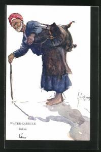 Künstler-AK L. Thackeray: Water-Carrier, Sakka, arabischer Wasserträger