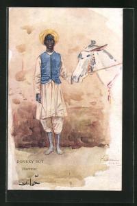 Künstler-AK L. Thackeray: Donkey Boy, Hammar