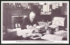 AK Dr. Bernardo at work in his Room at Stepney Causeway