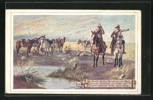 AK Burenkrieg, Berittene Infanterie (21. Reg.) auf Patrouille an der Südwestgrenze