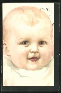 AK Baby mit lachendem Gesicht
