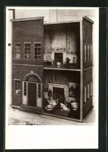 AK Kensington Palace, Queen Victoria`s Doll`s House, Puppenhaus und Puppenservice