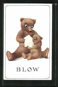AK Blow, Teddy putzt einem kleinen Bären die Nase