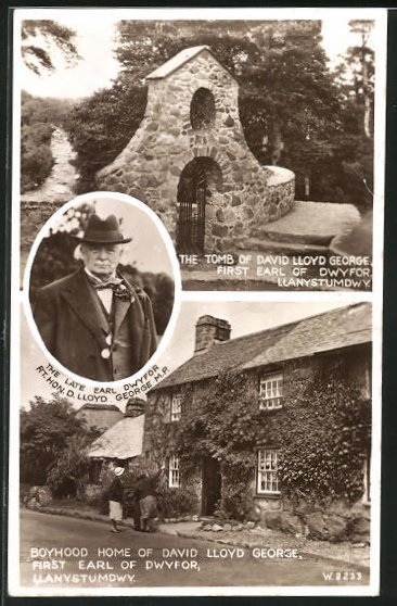 AK Llanystumdwy, Kinderhaus und Grab von David Lloyd George, First Earl of Dwyfor