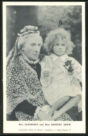 AK Mrs. Gladstone and Miss Dorothy Drew, britische Politikerin