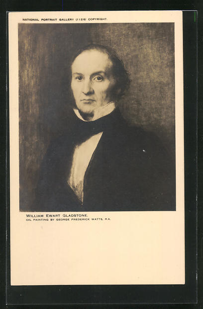 Künstler-AK George Frederick Watts: William Ewart Gladstone, Politiker