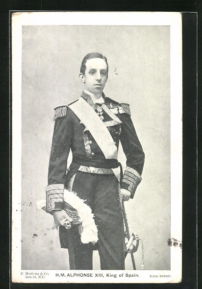 AK Alfons XIII., König von Spanien
