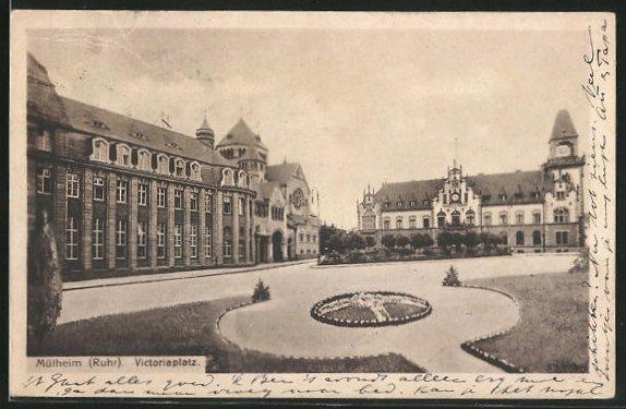 AK Mülheim, Synagoge am Victoriaplatz
