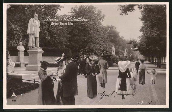 AK Berlin, Weltstadtleben in der Sieges Allee