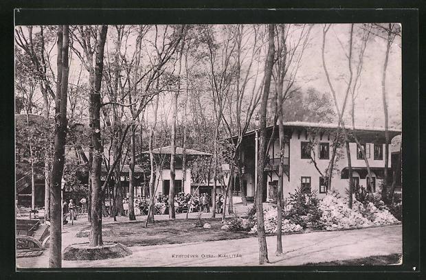 AK Budapest, Milleniums-Ausstellung 1896, Pavillons auf dem Gelände