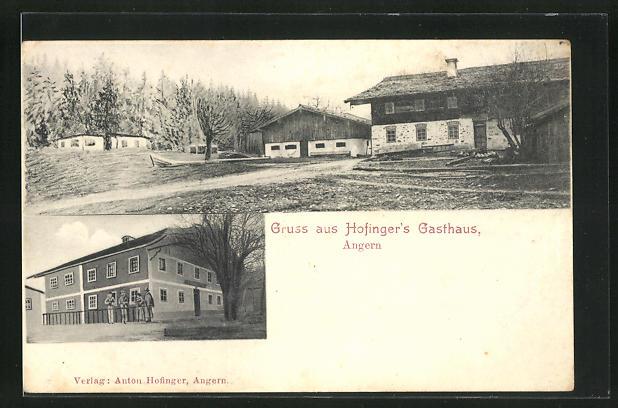 AK Angern, Ansicht von Hofinger`s Gasthaus