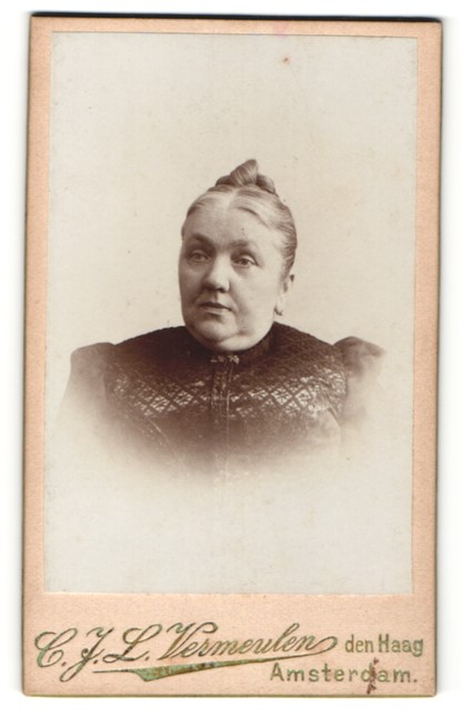 Fotografie C. J. L. Vermeulen, den Haag, Portrait betagte Dame