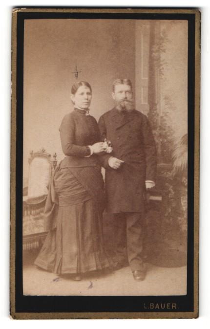 Fotografie L. Bauer, Wien, Portrait bürgerliches Paar