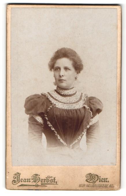 Fotografie Jean Herbst, Wien, Portrait bürgerliche Dame