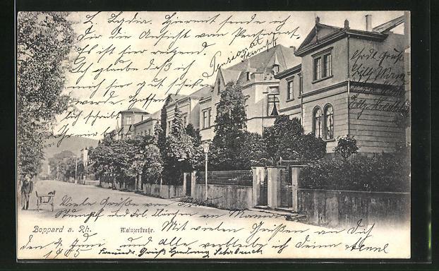 AK Boppard, Villen an der Mainzer Strasse
