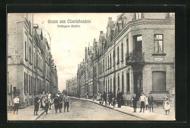 AK Oberlahnstein, Kinder auf der verlängerten Adolfstrasse