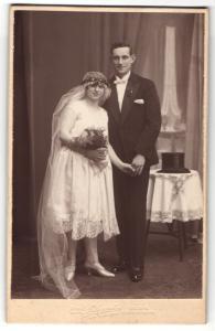 Fotografie Atelier Elegant, Berlin-N, Portrait Braut und Bräutigam, Hochzeit