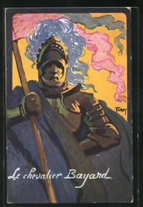 Künstler-AK Farcy: Concours de Tir 1911, Le chevalier Bayard, Ritter in Gestechrüstung