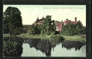 AK Cambridge, Emmanuel College from the Pond