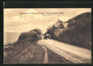 AK Weston-Super-Mare, Entrance to Weston Woods