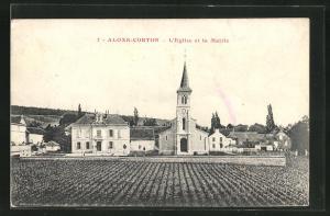 AK Aloxe-Corton, l'Eglise et la Mairie