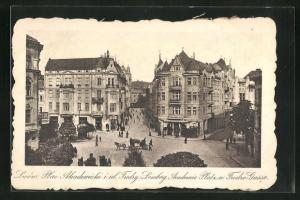 AK Lwow, Plac Akademicki i ul. Fredry.-Lemberg, Academie-Platz und Fredro-Gasse