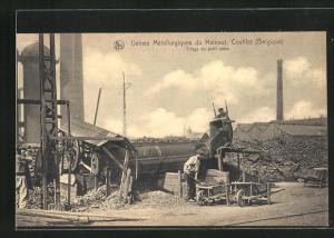 AK Couillet, Usines Metallurgiques du Hainaut, Triage du petit coke