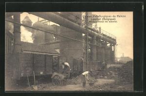 AK Couillet, Usines Metallurgiques du Hainaut, Dechargement du minerai