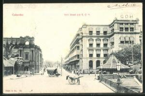 AK Colombo, York Street and G. O. H., Grand Oriental Hotel