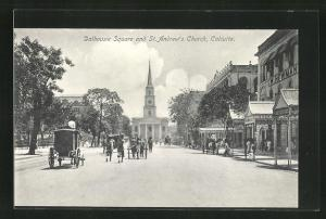 AK Calcutta, Dalhousie Square and St. Andrew`s Church