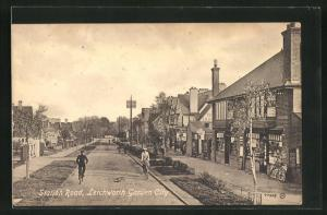 AK Letchworth Garden City, Station Road, Strassenpartie