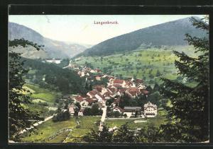 AK Langenbruck, Blick auf den Ort und ins Tal