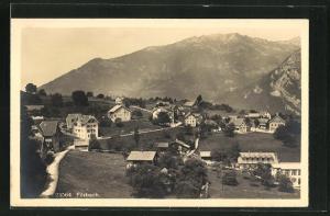 AK Filzbach, Teilansicht gegen die Berge