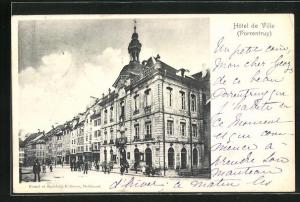 AK Porrentruy, Hotel de Ville, Eckfassade