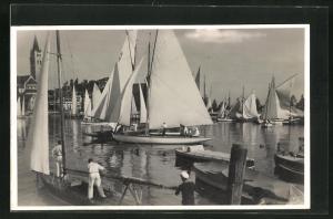 AK Romanshorn, Hafen mit Segelbooten