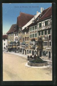 AK Stein a. Rhein, Alte Bauwerke im Stadtkern