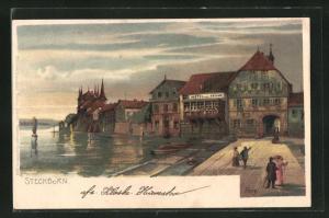 Lithographie Steckborn, Hotel zur Krone