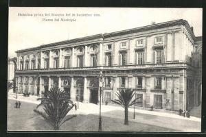 AK Messina, Prima del disastro 1908, Piazza del Municipio
