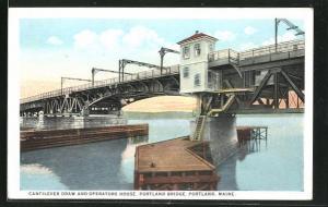 AK Portland, ME, Cantilever Draw and Operators House, Portland Bridge