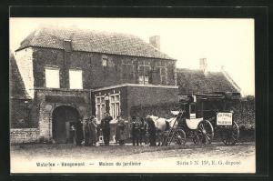 AK Waterloo-Hougomont, Maison du jardinier