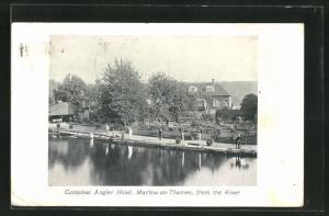 AK Marlow-on-Thames, Compleat Angler Hotel from the River