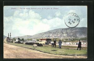 AK Damas, Vue du mont Salhierh prise de la Gare Hijaz