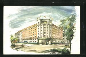 Künstler-AK Madrid, A Hilton Hotel
