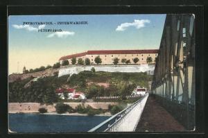 AK Peterwardein, Teilansicht von der Brücke aus