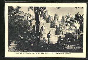 AK Siem Reap, Ruines D`Angkor-Phnom-Bakheng, Facade Est de la pyramide