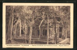 AK Siem Reap, Ruines D`Angkor-Ta Prohm, Facade intèrieure