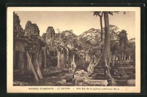 AK Siem Reap, Ruines D`Angkor-Le Bayon-Aile Est de la galerie exterieure Nord