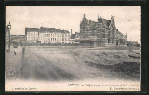 AK Anvers, Dèplacement et rehaussement de la Gare