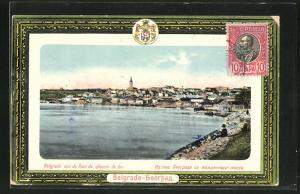 AK Belgrade, Gesamtansicht aus der Ferne