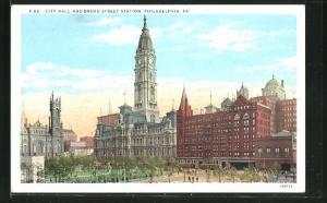 AK Philadelphia, PA, City Hall and Broad Street Station